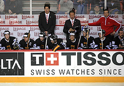 Players of Germany at ice-hockey match Finland vs Germany (they played in replika jerseys like they were in year 1932) at Preliminary Round (group C) of IIHF WC 2008 in Halifax, on May 03, 2008 in Metro Center, Halifax, Canada. (Photo by Vid Ponikvar / Sportal Images)