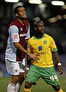 Burnley - Saturday November 1st, 2008: Clarke Carlisle of Burnley and Leroy Lita of Norwich City during the Coca Cola Championship match at Burnley. (Pic by Michael Sedgwick/Focus Images)