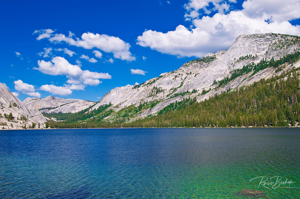Tenaya Lake under Tenaya Peak, Tuolumne Meadows area, Yosemite National Park, California