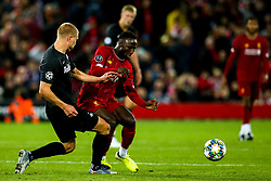 Naby Keita of Liverpool takes on Rasmus Kristensen of FC Salzburg - Mandatory by-line: Robbie Stephenson/JMP - 02/10/2019 - FOOTBALL - Anfield - Liverpool, England - Liverpool v Red Bull Salzburg - UEFA Champions League Group Stage