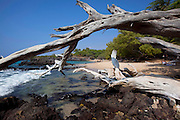 Wailea Bay and beach, Puako, Kohala, Island of Hawaii