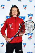 Warsaw, Poland - 2017 December 08: Tennis player Daria Kuczer from Poland poses while Photo Session of Fed Cup Team of Polish Tennis Association at Mera Tennis Club on December 08, 2017 in Warsaw, Poland.<br /> <br /> Mandatory credit:<br /> Photo by © Adam Nurkiewicz / Mediasport<br /> <br /> Adam Nurkiewicz declares that he has no rights to the image of people at the photographs of his authorship.<br /> <br /> Picture also available in RAW (NEF) or TIFF format on special request.<br /> <br /> Any editorial, commercial or promotional use requires written permission from the author of image.