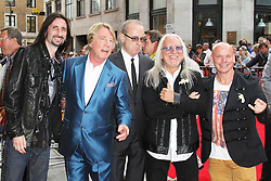 © Licensed to London News Pictures. 01/07/2013. London, UK. Rick Parfitt; Francis Rossi; Uriah Heep, Bula Quo UK film premiere, Odeon West End cinema Leicester Square, London. Photo credit: Richard Goldschmidt/LNP