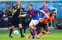Fotball , 26. juni 2013 ,  ,4. runde NM cup herrer <br /> Vålerenga -  3-1<br /> Jan Gunnar Solli , VIF<br /> Malick Mane , Sogndal