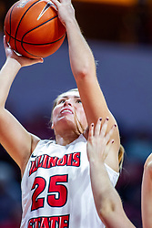 NORMAL, IL - November 05: Lexi Wallen during a college women's basketball game between the ISU Redbirds and the Truman State Bulldogs on November 05 2019 at Redbird Arena in Normal, IL. (Photo by Alan Look)