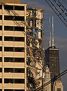 Demolition continues at the last building standing in the Cabrini Green housing complex on Wednesday, April 6, 2011.<br /> <br /> (Brian Cassella/ Chicago Tribune) B581186089Z.1<br /> ....OUTSIDE TRIBUNE CO.- NO MAGS,  NO SALES, NO INTERNET, NO TV, NEW YORK TIMES OUT, CHICAGO OUT, NO DIGITAL MANIPULATION...