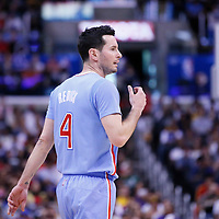 06 April 2014: Los Angeles Clippers guard J.J. Redick (4) is seen during the Los Angeles Clippers 120-97 victory over the Los Angeles Lakers at the Staples Center, Los Angeles, California, USA.