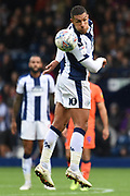 West Bromwich Albion midfielder Jake Livermore (8) heads the ball during the EFL Sky Bet Championship match between West Bromwich Albion and Millwall at The Hawthorns, West Bromwich, England on 22 September 2018.