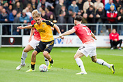 Cambridge United forward Sam Smith in possession of the ball during the EFL Sky Bet League 2 match between Salford City and Cambridge United at Moor Lane, Salford, United Kingdom on 12 October 2019.