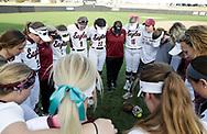 February 14, 2019: The Southern Nazarene University Crimson Storm play against the Oklahoma Christian University Lady Eagles at Tom Heath Field at Lawson Plaza on the campus of Oklahoma Christian University.