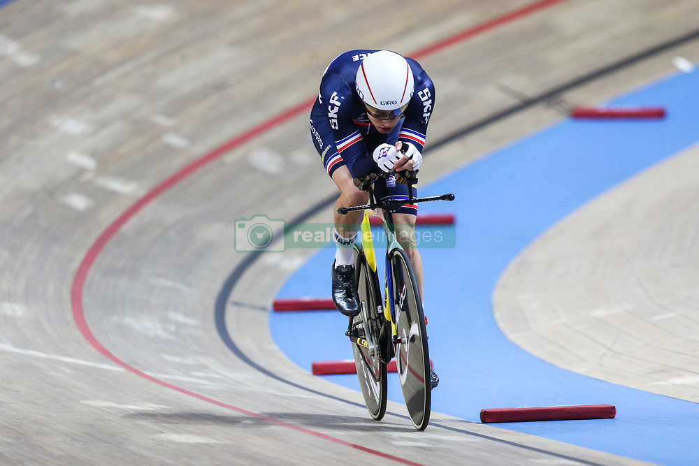 March 1, 2019 - Pruszkow, Poland - Clement Davy of France competes in the Men's Individual Pursuit Qualifying race on day three of the UCI Track Cycling World Championships held in the BGZ BNP Paribas Velodrome Arena on March 01, 2019 in Pruszkow, Poland. (Credit Image: © Foto Olimpik/NurPhoto via ZUMA Press)