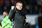 Forest Green Rovers manager, Mark Cooper at the end of the match during the Vanarama National League match between Macclesfield Town and Forest Green Rovers at Moss Rose, Macclesfield, United Kingdom on 12 November 2016. Photo by Shane Healey.