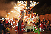 Flying Machines by the Marketeers Carnival Club at the 2011 Bridgwater Guy Fawkes Carnival Club. Bridgwater Carnival is an annual event to raise money for local charities. It is widely reputed to be the largest illuminated carnival in the world.