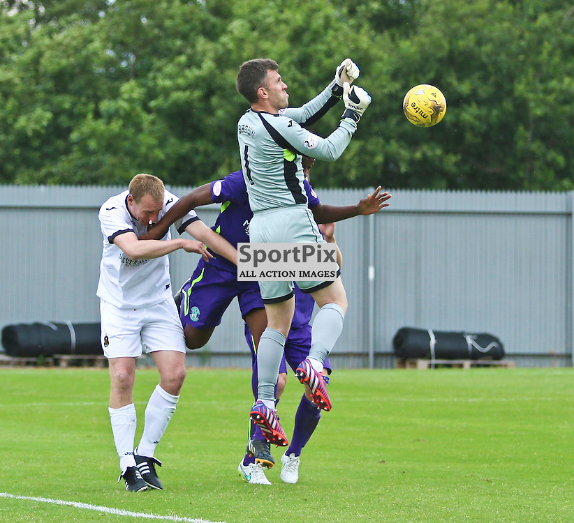 Mark Brown punches clear from Hibs attack <br /> <br /> <br /> <br /> <br /> <br /> <br /> (c) Andy Scott | SportPix.org.uk