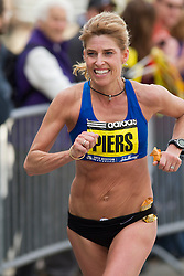 2013 Boston Marathon: Sheri Piers with a mile to go