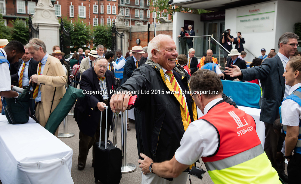 MCC members enter before the 2nd Investec Test Match between England and Australia at Lord's Cricket Ground, London. Photo: Graham Morris (Tel: +44(0)20 8969 4192 Email: sales@cricketpix.com) 16/07/15
