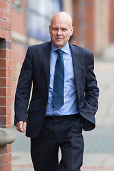 © Licensed to London News Pictures. 18/08/2015. Leeds, UK. Picture shows Colin Ferrie at Leeds Magistrates Court. Ferrie was charged with possession of cocaine after he was filmed by a Sunday newspaper allegedly taking the class A drug before going on duty at Leeds General infirmary. Photo credit: Andrew McCaren/LNP