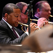 Wynton Marsalis and the Jazz at Lincoln Center Orchestra perform at The Music Hall in Portsmouth, NH. June, 2013
