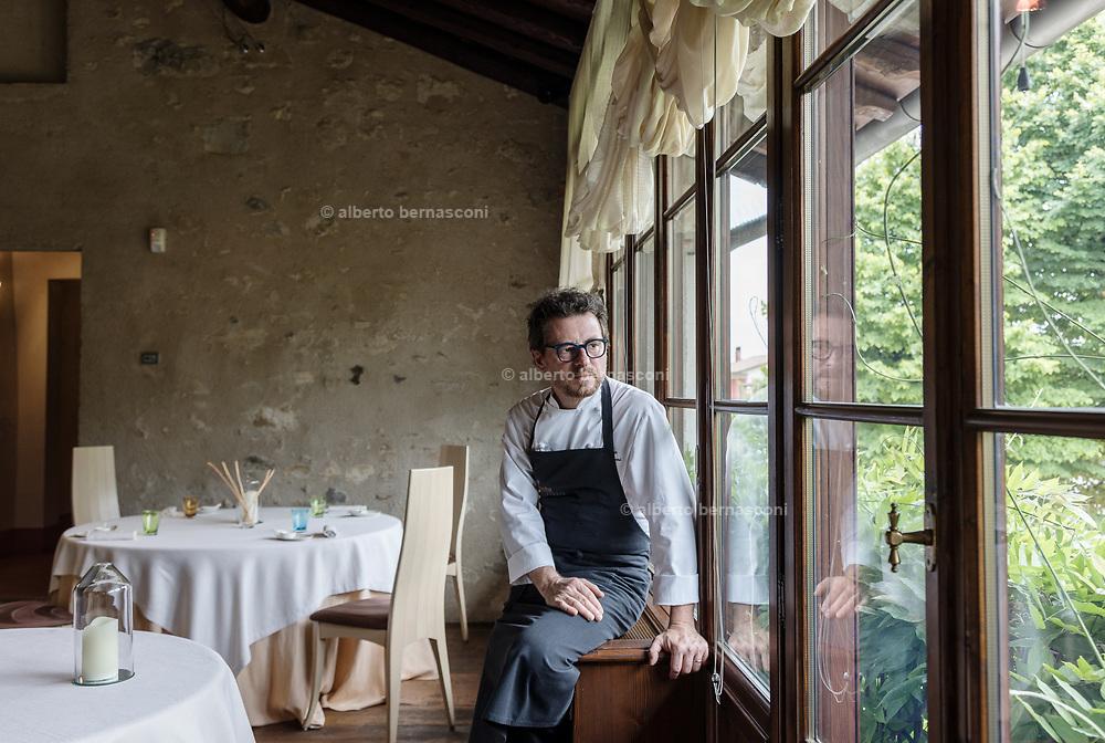 ITALY, Franciacorta area, Borgonato, one star restaurant Due Colombe, Chef Stefano Cerveni