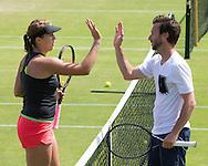 DIETER KINDLMANN (GER) und ANASTASIA PAVLYUCHENKOVA, Training,Aorangi Park,<br /> <br /> Tennis - Wimbledon 2016 - Grand Slam ITF / ATP / WTA -  AELTC - London -  - Great Britain  - 5 July 2016.