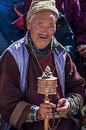 Portraite of Ladakhi man during the Ladakh Festival in Leh India