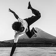 Cape Verde. Capeeira , traditional Brazilian martial art, training in the village Chas da Caldeira, in front of the Pic do Fogo volcano  Fogo island     / Cap-Vert:  capoeira , art martial traditionel bresilien, dans le village au pied du volcan pic de Fogo  ile de Fogo    /16