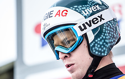 03.01.2015, Bergisel Schanze, Innsbruck, AUT, FIS Ski Sprung Weltcup, 63. Vierschanzentournee, Innsbruck, vor dem Trainingssprung, im Bild Michael Hayboeck (AUT) // Michael Hayboeck of Austria  preparing for the Training Jump for the 63rd Four Hills Tournament of FIS Ski Jumping World Cup at the Bergisel Schanze in Innsbruck, Austria on 2015/01/03. EXPA Pictures © 2015, PhotoCredit: EXPA/ JFK