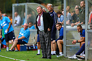 AFC Wimbledon Manager Wally Downes during the Pre-Season Friendly match between Hampton & Richmond and AFC Wimbledon at Beveree Stadium, Richmond Upon Thames, United Kingdom on 27 July 2019.