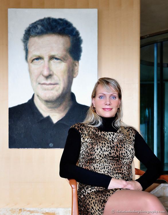Dreyfus, widow of Robert- Louis Dreyfus, takes a pose during an interview for L'Express at her home in Zollikon, Canton of Zurich, Switzerland on Monday, Mai 10th, 2010.<br /> Photo: Christian Bobst, (no sale, no add, editorial only)