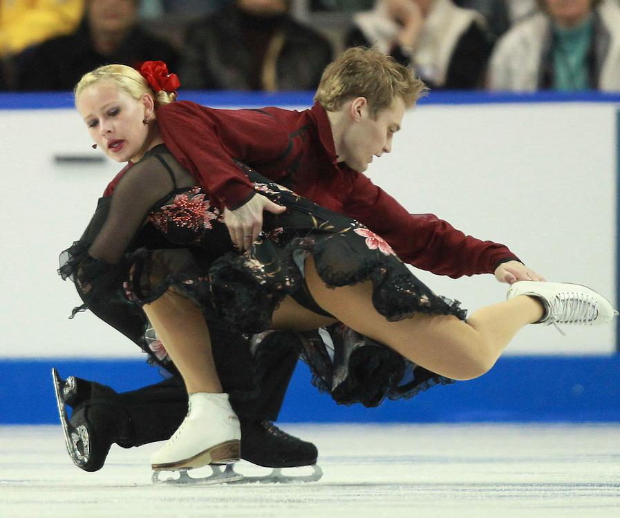 20101031 -- Kingston, Ontario -- Stefanie Frohberg and Tim Giesen of Germany skate their free dance at Skate Canada International in Kingston, Ontario, Canada, October 31, 2010. <br /> AFP PHOTO/Geoff Robins