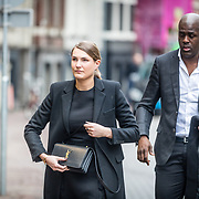 NLD/Amsterdam//20170309 - Herdenkingsdienst Guus Verstraete, Iris van den Ende met haar partner