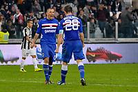 Angelo Palombo Sampdoria .Calcio Juventus vs Sampdoria.Serie A - Torino 06/1/2013 Juventus Stadium .Football Calcio 2012/2013.Foto Federico Tardito Insidefoto