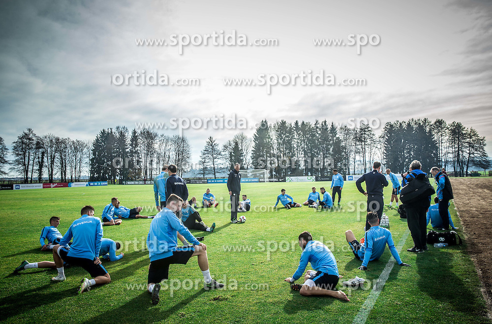Srecko Katanec, head coach during practice session of Slovenian Football Team before Euro 2016 Qualifying match against Ukraine, on November 10, 2015 in Football centre Brdo pri Kranju, Slovenia. Photo by Vid Ponikvar / Sportida