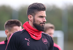 November 1, 2017 - London, England, United Kingdom - Arsenal's Olivier Giroud.during a Arsenal training session ahead of the UEFA Europa League Group H match against Red Star Belgrade (Crvena Zvezda)  at Arsenal training centre , London Colney on 1 Nov  2017 St.Albans, England  (Credit Image: © Kieran Galvin/NurPhoto via ZUMA Press)