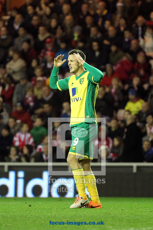 Picture by Paul Chesterton/Focus Images Ltd +44 7904 640267<br /> 21/12/2013<br /> Norwich City's Ricky van Wolfswinkel rues a missed chance during the Barclays Premier League match at the Stadium Of Light, Sunderland.