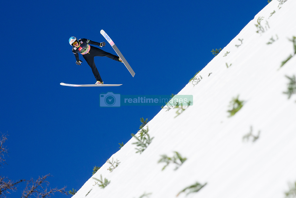 March 23, 2019 - Planica, Slovenia - Eetu Nousieainen of Finland in action during the team competition at Planica FIS Ski Jumping World Cup finals  on March 23, 2019 in Planica, Slovenia. (Credit Image: © Rok Rakun/Pacific Press via ZUMA Wire)