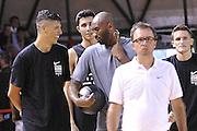 Kobe Bryant Simone Fontecchio- Clinic con Kobe Bryant e Ettore Messina, mamba mentality tour 2016, 22/07/2016, Milano. Foto Fip/Ciamillo