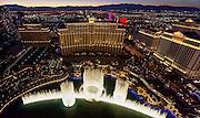 Aerial view of the Bellagio Hotel the Strip, Las Vegas, Nevada, USA