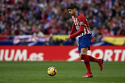 February 9, 2019 - Madrid, Madrid, Spain - Alvaro Morata of Atletico Madrid during the week 23 of La Liga between Atletico Madrid and Real Madrid at Wanda Metropolitano stadium on February 09 2019, in Madrid, Spain. (Credit Image: © Jose Breton/NurPhoto via ZUMA Press)