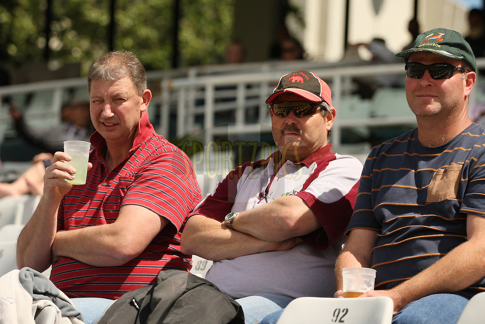 Crowd enjoying the relaxed atmosphere during match 10 in the Karbonn Smart CLT20 between the Sydney Sixers and the Highveld Lions held at Sahara Park Newlands, Cape Town, South Africa on the 18th October 2012. Photo by Jacques Rossouw/SPORTZPICS/CLT20