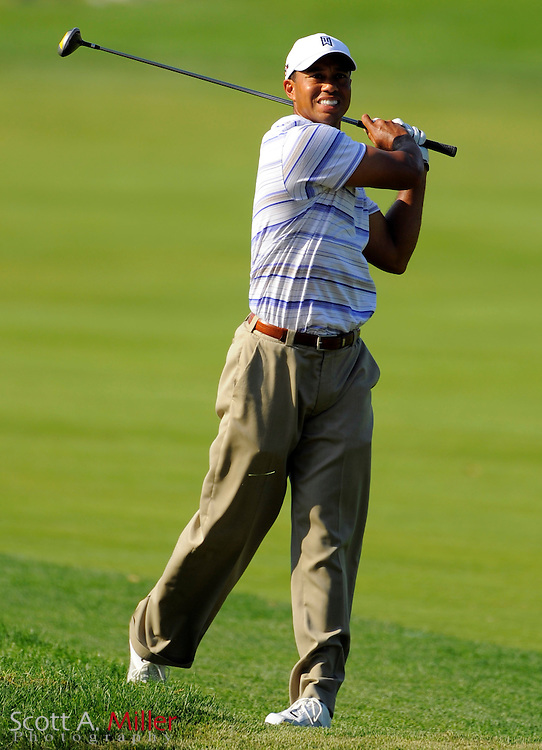 Aug 14, 2009; Chaska, MN, USA; Tiger Woods (USA) during the second round of the 2009 PGA Championship at Hazeltine National Golf Club.  ©2009 Scott A. Miller