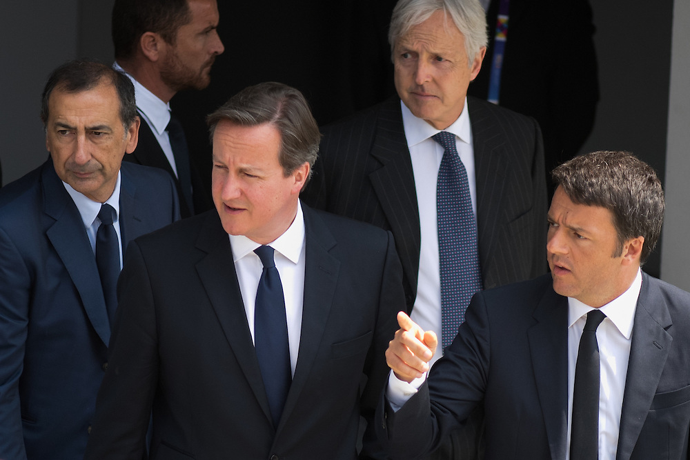 Foto Piero Cruciatti / LaPresse<br /> 17-06-2015 Milano, Italia<br /> Cronaca<br /> National Day della Gran Bretagna a Expo Milano 2015 con Primo Ministro David Cameron<br /> Nella Foto: Matteo Renzi, David Cameron <br /> Photo Piero Cruciatti / LaPresse<br /> 17-06-2015 Milan, Italy<br /> News<br /> UK National Day at Expo Milano 2015 with PM David Cameron<br /> In the Photo: Matteo Renzi, David Cameron