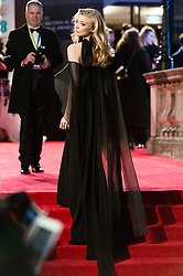 © Licensed to London News Pictures. 18/02/2018. NATALIE DORMER arrives on the red carpet for the EE British Academy Film Awards 2018, held at the Royal Albert Hall, London, UK. Photo credit: Ray Tang/LNP