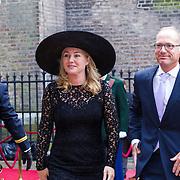 NLD/Den Haag/20130917 -  Prinsjesdag 2013, Minister van Infrastructuur en Milieu Melanie Schulz van Haegen-Maas Geesteranus met partner Haro Schulz van Haegen