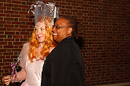 "Connie Post as Glinda the Good Witch of the South stops for a picture during the Wizard of Oz party at the Dayton Art Institute, Friday, April 12, 2013.  According to IMDB.com, Glinda is the ""ruler of the Quadling country in the south of Oz. She commands an all-girl army and lives in a remote palace. She is often confused with the Good Witch of the North ( whose name is Tattypoo) as it was the GWN in the book who met Dorothy in the Munchkin country, while in the 1939 film and most retellings since, it is Glinda who fills that role.'"