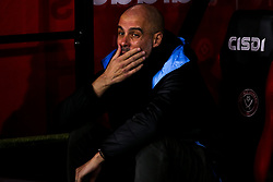 Manchester City manager Pep Guardiola cuts a frustrated figure  - Mandatory by-line: Robbie Stephenson/JMP - 21/01/2020 - FOOTBALL - Bramall Lane - Sheffield, England - Sheffield United v Manchester City - Premier League
