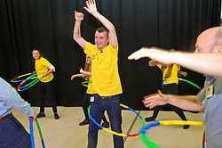 Pictured: Chef Jordan Docherty tries out the hola-hoop challenge<br /> Inch by Inch for Scotland launched a major national obesity campaign today at Portobello High School. Chef Jordan Docherty was on hand to show how he turned his life around from drink and drugs in his early life with support from the campaign.  He was keen to show the school students that they could make healthy food on a budget and his version of a pot noodle made in five miutes went down well.    'Inch by Inch for Scotland' is a campaign aimed at reducing obesity amongst the population of Scotland by creating positive content aimed at teenagers and families to challenge them to take part in exercises or in preparing a healthier diet.<br /> <br /> The core idea for the campaign is to encourage teenagers and parents to do a small change or to take part in a small activity that will hopefully create an incremental change where people want to live healthier lives. Ultimately the goal is to change the culture of the nation, although we understand that we need to take small incremental steps at first – hence – 'Inch by Inch'.<br /> <br /> <br /> Ger Harley | EEm 7 September 2017