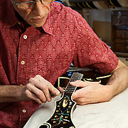 Tom Ellis, mandolin luthier, of Ellis Mandolins in Austin, Texas