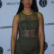 Olympia London,UK, 2nd Dec 2017. Nikita is a beauty youtuber attends the BeautyCon London.