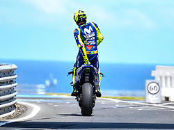 October 26, 2018 - Melbourne, Victoria, Australia - Italian rider Valentino Rossi (#46) of Movistar Yamaha MotoGP exits pit lane during day 2 of the 2018 Australian MotoGP held at Phillip Island, Australia. (Credit Image: © Theo Karanikos/ZUMA Wire)